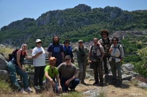 Il gruppo a Civita